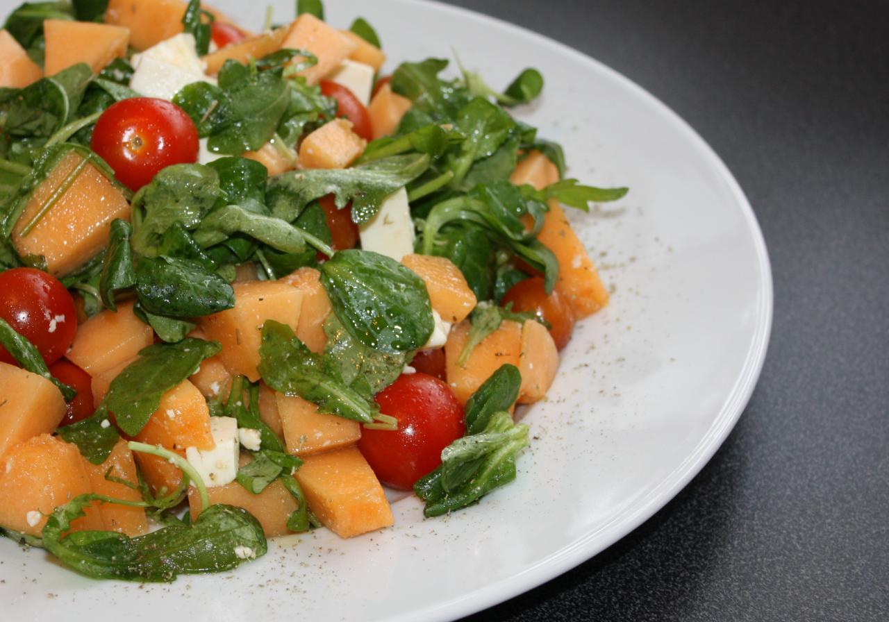Salade d 39 t au melon - Salade d ete composee ...